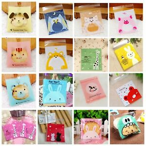 100Pcs Xmas Festival Party Favour Treat Sweets Cookie Candy Biscuit Bag Gift New