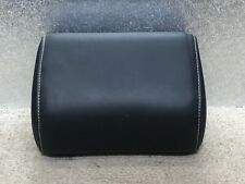 AUDI A3 8P 04-12 REAR CENTRE SEAT HEADREST IN BLACK LEATHER WITH WHITE STITCHING
