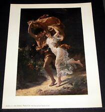 "OLD ART PRINT, ""THE STORM"", BY PIERRE COT!"