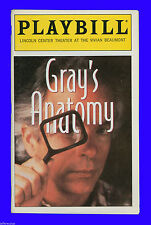 Playbill + Grays Anatomy + Spalding Gray + Directed by Renee Shafransky