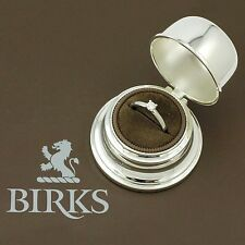 BIRKS 18k White Gold Diamond Solitaire Engagement Ring (estate w/box, cert) 3909