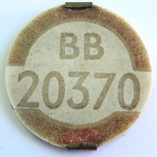 VINTAGE EARLY PSV BUS DRIVER'S BADGE BB 20370 YORKSHIRE (Leeds) DRIVER 1940s?