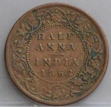 India British - half Anna 1862 - 1/2 Anna 1862 Queen Victoria - KM# 468