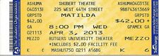 "Tim Minchin ""MATILDA"" Bertie Carvel / Lesli Margherita 2013 Preview Ticket"