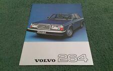 1977 VOLVO 264 260 SALOON DL GLE - UK LEAFLET BROCHURE