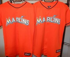NWOT Marlins majestic jersey youth XL lot of 2 Free Shipping Miami MLB