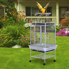 "PawHut 63"" Parrot Cage Bird Finch Parakeet Stand Feeder w/ Play Top Perch Bowl"