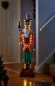 In-lit Giant Nutcracker 23 Warm White LEDS Light 119cm Tall Christmas Home Decor