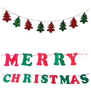 2x Weihnachts Girlande   3 Meter   1x Weihnachtsbäume + 1x Merry Christmas