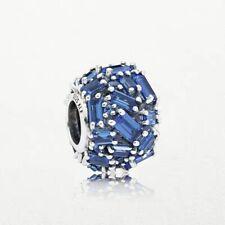 Authentic Pandora Silver  Charm Bead  Chiselled  Elegance BLUE #797746 #e