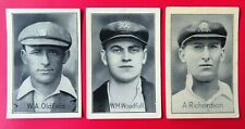 1926 Champion Magazine Cricket Cards:  AUSTRALIAN TEST CRICKETERS x 3