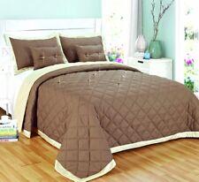 Luxury 5 Piece Bedding Set Bedspread Diamond Reversible Comforter Throw Quilted