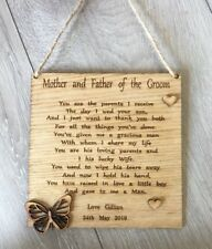 gift for parents of the groom oak faced veneer wood engraved poem parents in law