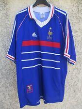 Maillot Equipe de FRANCE COUPE DU MONDE 98 ADIDAS vintage shirt jersey XL