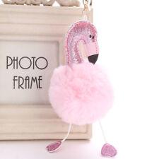 Bommel Flauschig Karikatur Flamingo Plüsch Schlüsselanhänger Handtasche  Auto