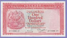 """Hong Kong,100 Dollars Banknote""""Replacement"""",1981About Uncirculated,Cat#187-C-ZH"""