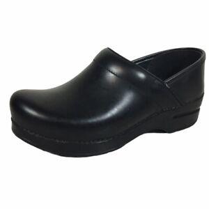 Dansko Women's Professional Clogs Black Cabrio Leather Shoes US 8.5-9 EUR 39