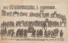 Anonimo 1700 processioni acquaforte