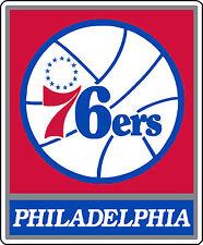 "Philadelphia 76ers NBA Basketball sticker wall decor Large vinyl decal, 9""x 11"""
