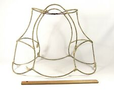 Antique Lamp Shade Wire Frame Oval Rare Scalloped for Table or Floor Lighting