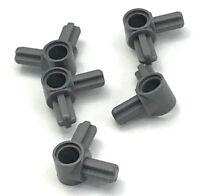 Lego 4 Classic Dark Gray technic axle and pin connector #5