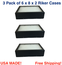 3 Pack of 6 x 8 x 2 Riker Display Cases Box for Collectibles, Arrowheads & More