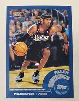 🔥 2002-03 Topps #3 Blue Border Allen Iverson 76ers HOF 🔥