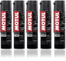MOTUL C2 CHAIN ROAD Grasso Lubrificante Spray Catena Moto e Kart - 5 x 400ml