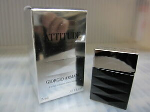 ATTITUDE POUR HOMME by GIORGIO ARMANI 0.17 FL oz / 5 ML EDT Miniature In Box