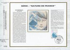 FEUILLET CEF / DOCUMENT PHILATELIQUE / NATURE DE FRANCE FLUORITE 1986 PARIS