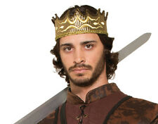 Gold Kings Crown Medieval Fancy Dress Royal Game Of Thrones Costume Accessory
