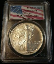 1991 AMERICAN SILVER EAGLE PCGS GEM UNCIRCULATED WTC GROUND ZERO RECOVERY