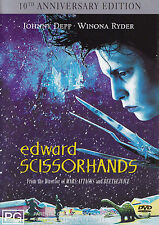 EDWARD SCISSORHANDS Johnny Depp DVD R4  PAL