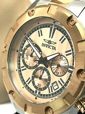 Invicta Specialty 15605 Men's Analog Chronograph Date Rose Gold Tone SS Watch
