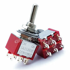 100pcs High Quality 6 Pin DPDT ON-ON 2 Position Mini Toggle Switches MTS-202 Red