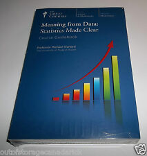 The Great Courses Meaning From Data Statistics Made Clear - DVD & Guidebook NEW