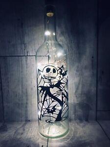 Nightmare Before Christmas Light Up Bottle Lamp Jack Skellington Halloween Gift
