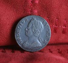 1752 Great Britain 1/2 Half Penny World Coin Britania Seated UK England RARE