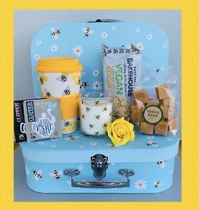 LADIES HONEY BEE AFTERNOON TEA PAMPER HAMPER GIFT BOX SET HER BIRTHDAY MUM NAN