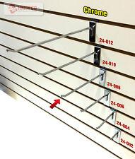 "8"" Slatwall Metal Hooks (24-008CH) - 100 Piece - Chrome (NEW)"