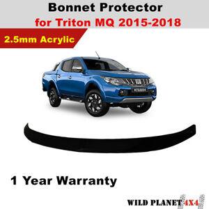 Black Bonnet Protector fit Mitsubishi Triton MQ 2015 2016 2017 2018 Tinted Guard