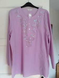 Marks and spencer 18 Kaftan/Beach Cover Up - Lilac