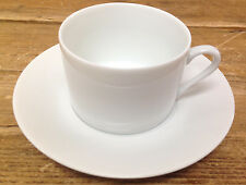 Apilco Concorde White Porcelain France French 1 Cup Saucer Set White Undecorated