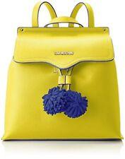 Borsa Zainetto Backpack Bag Love Moschino Donna Woman Pelle gialla Ponpon Blu