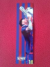 MARCAPÁGINAS BOOK MARK BOOKMARK AL POSTE EDICIONES MESSI FÚTBOL BARÇA BARCELONA