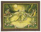Handmade Mughal Miniature Painting Prince & Princess Enjoying Dance On Terrace