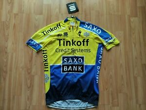 Tinkoff Saxo Pro Team SS Full Zip Cycling Jersey Alberto Contador Size: L  NEW!