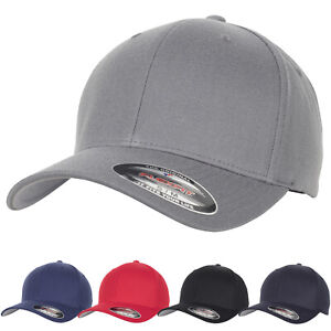 Flexfit by Yupoong Unisex Sporty Soft Wool Blend Curved Peak Baseball Cap Hat