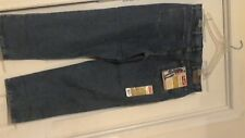New Wrangler 5 Star Relaxed Fit Straight Leg Work Jeans ( 38 X 30 ) Blue W / Tag