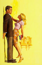 """Vintage Pin Up Pulp Art Up against the wall 11 x 14""""  Photo Print"""